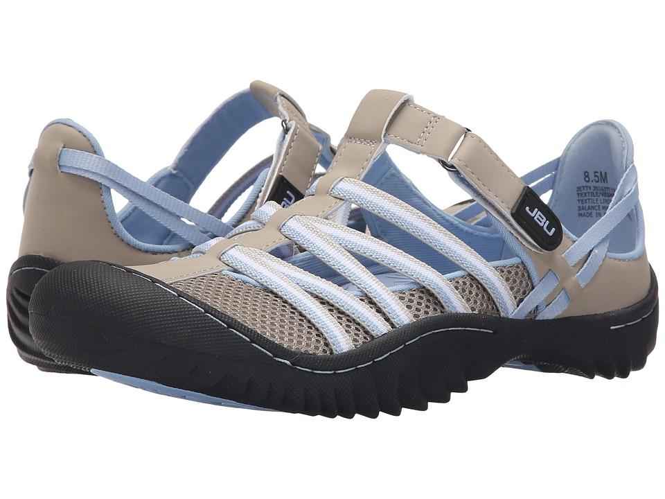 JBU Jetty Light Grey/Stone Blue Womens Slip on Shoes