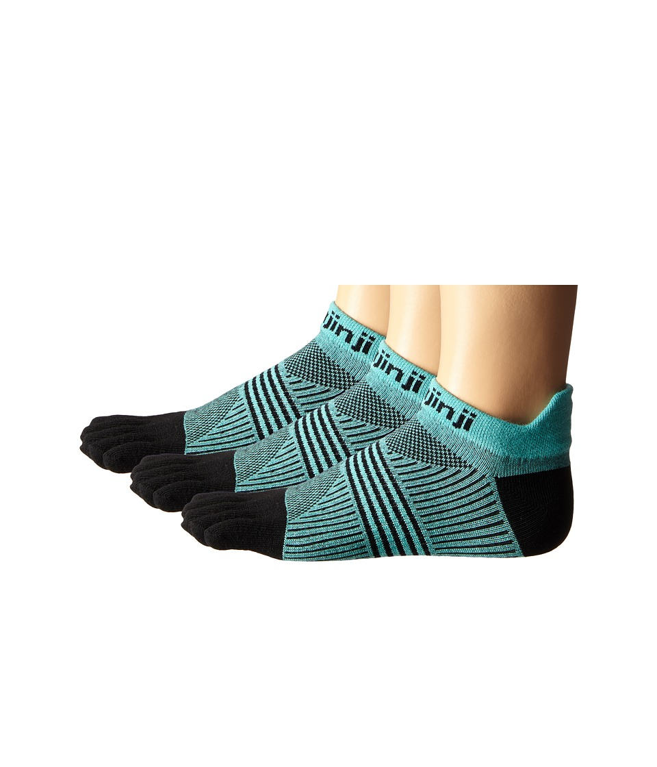 Injinji Run Lightweight No Show 3 Pair Pack Dark Mint Womens No Show Socks Shoes