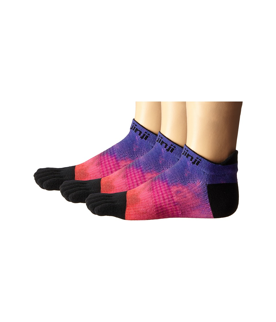 Injinji Run Lightweight No Show 3 Pair Pack Boysenberry Womens No Show Socks Shoes