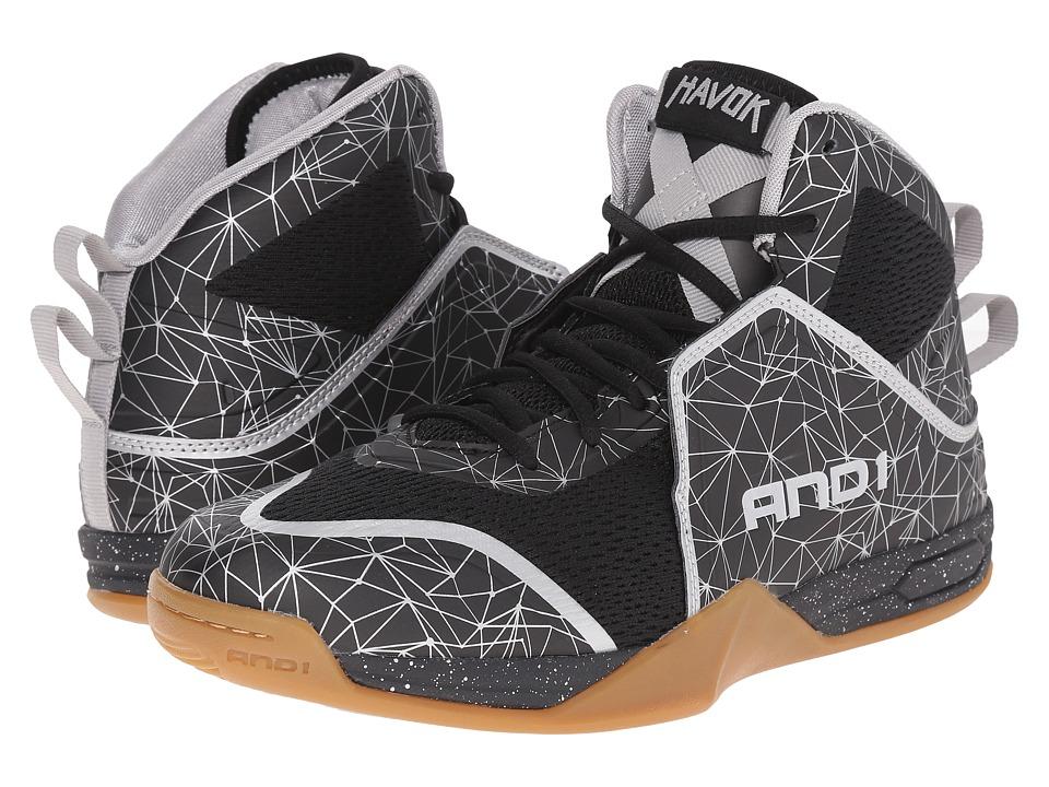 AND1 Havok Stretch Limo/Stretch Limo/Gum Mens Basketball Shoes