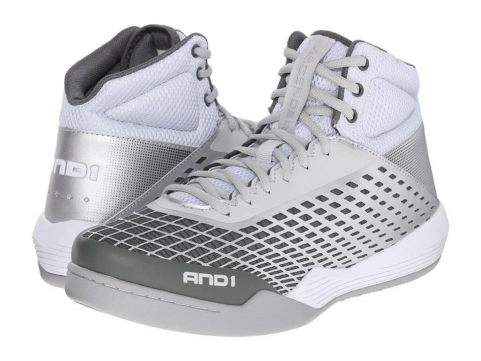 Image of AND1 - Ascender (Bright White/Glacier Grey/Bright White) Men's Basketball Shoes