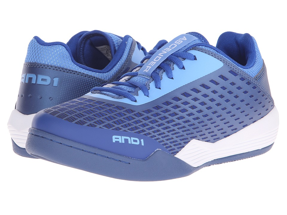 AND1 - Ascender Low (Marina/True Navy/Bright White) Mens Basketball Shoes