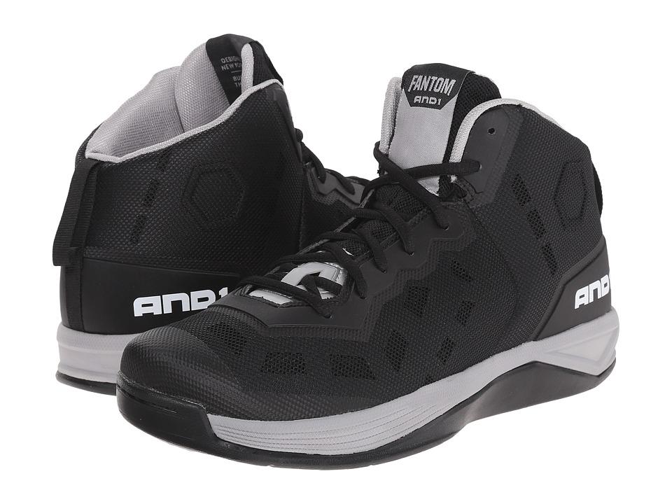 AND1 Fantom Black/Silver/White Mens Basketball Shoes