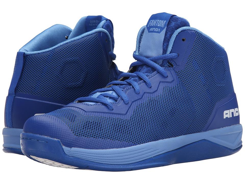 AND1 Fantom Royal/Royal/Marina Mens Basketball Shoes