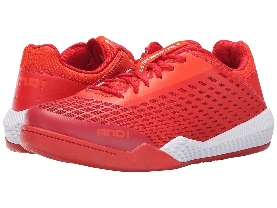 AND1 Ascender Low Cherry Tomatoe/Fiery Red/Bright White Mens Basketball Shoes