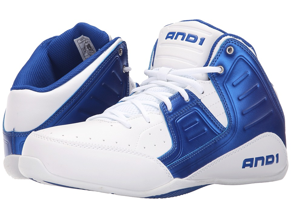 AND1 Rocket 4 Bright White/Royal/Bright White Mens Basketball Shoes