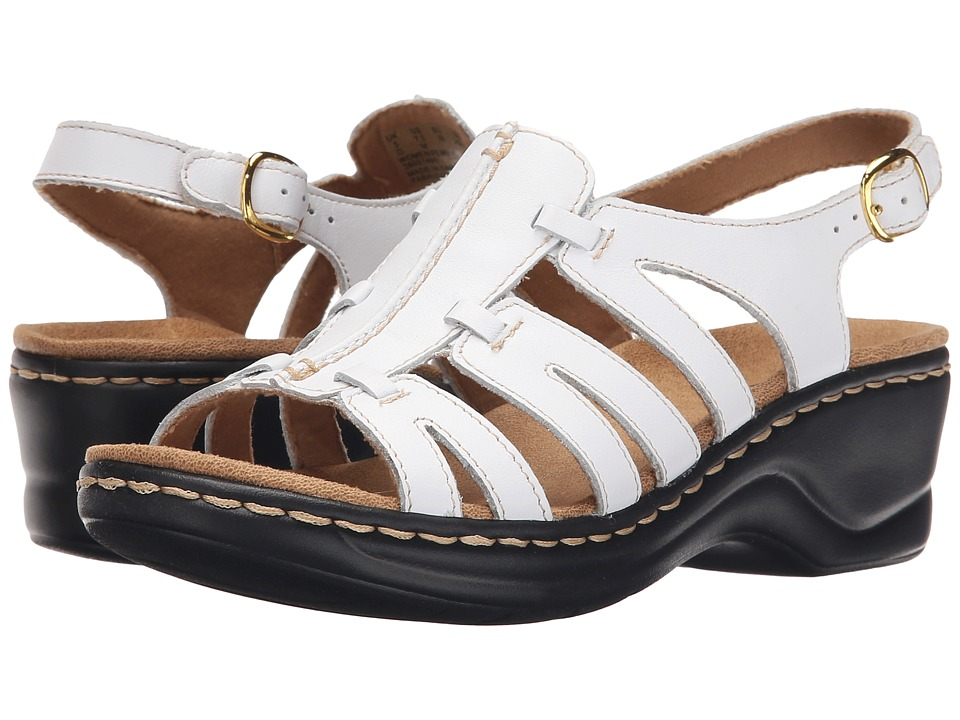 Clarks Lexi Marigold Q (White Leather) Sandals
