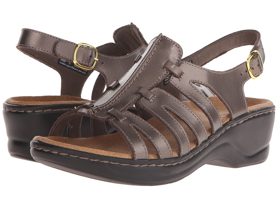 Clarks Lexi Marigold Q (Pewter Leather) Sandals