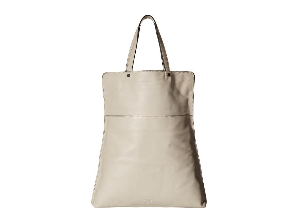 ECCO - Sculptured Folding Tote (Gravel) Tote Handbags