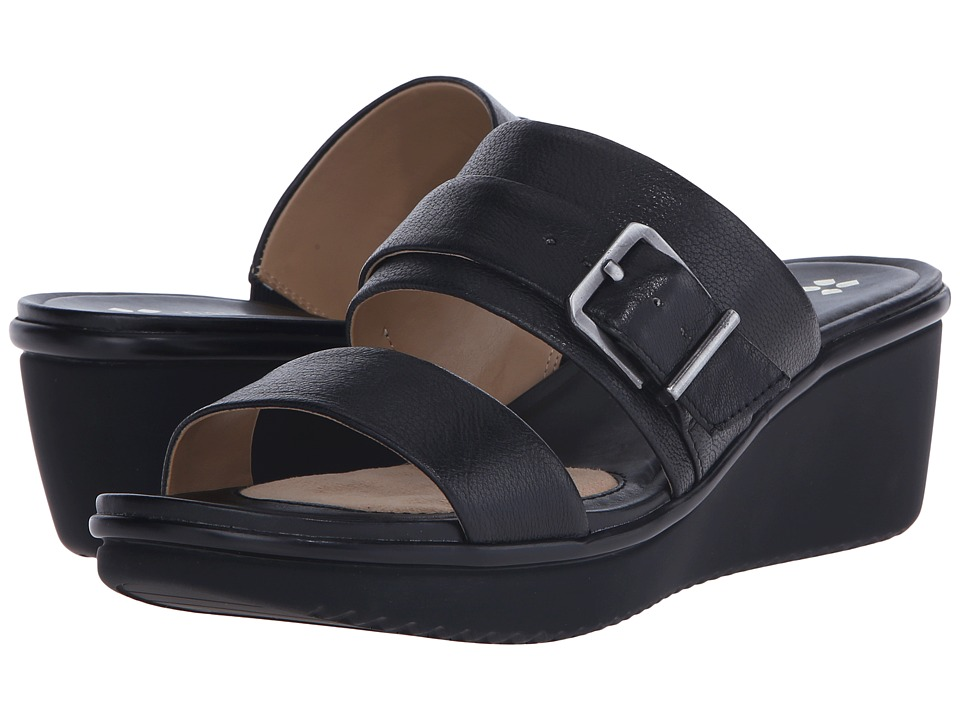 Naturalizer Aileen Black Leather Womens Dress Sandals