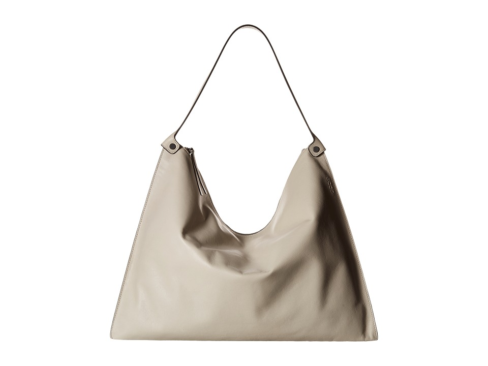 ECCO - Sculptured Shoulder Bag (Gravel) Shoulder Handbags