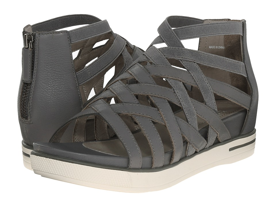 Eileen Fisher Airy Graphite Matte Washed Leather Womens Sandals