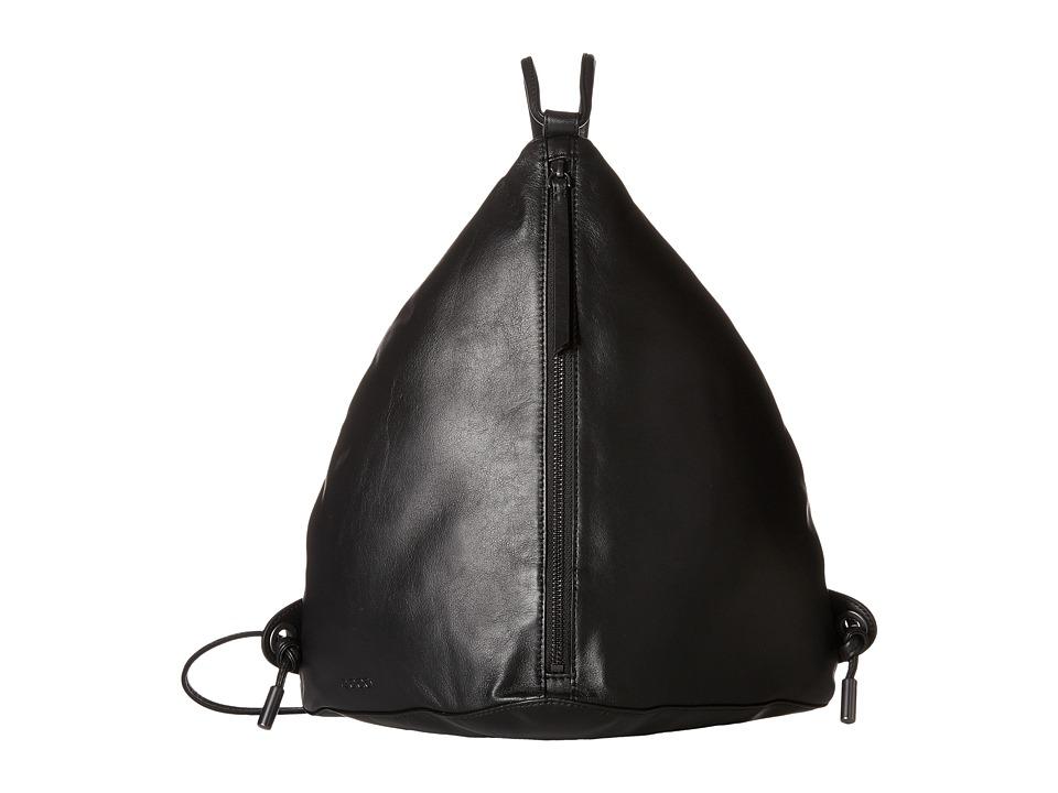 ECCO - Sculptured Backpack (Black) Backpack Bags