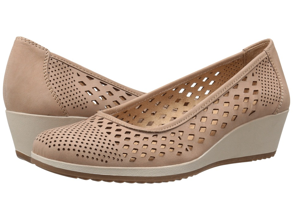 Naturalizer Brelynn Ginger Snap Nubuck Womens Wedge Shoes