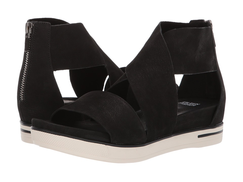 Eileen Fisher Sport (Black Tumbled Nubuck) Sandals
