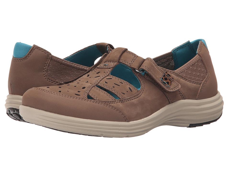 Aravon Barbara AR Brown Womens Slip on Shoes