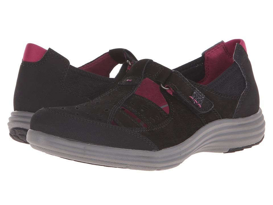 Aravon Barbara AR Black Womens Slip on Shoes