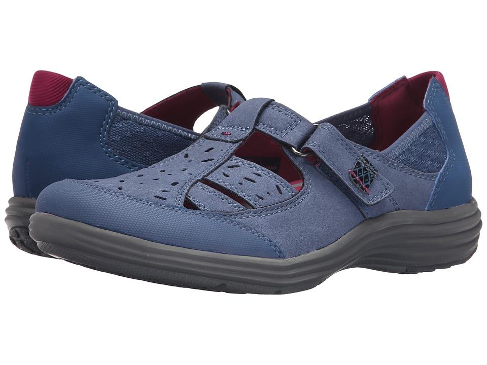 Aravon Barbara AR Blue Womens Slip on Shoes