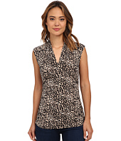 Vince Camuto - Short Sleeve Tribal Leopard Print Top