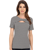 Vince Camuto - Short Sleeve Dock Stripe Top