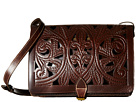 Patricia Nash Cutout Tooled Imperialli Crossbody (Brown)
