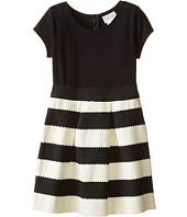 Us Angels - Ponte Novelty Elastic Cap Sleeve w/ Full Skirt (Big Kids)