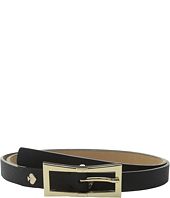 Kate Spade New York - Saffiano Panel Belt with Bow Buckle