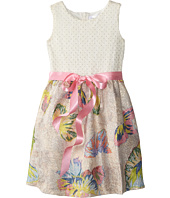 Us Angels - Butterfly Brocade Tank Dress w/ Ribbon Belt & Full Skirt (Little Kids)