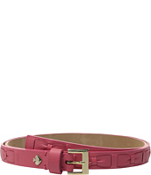 Kate Spade New York - Shrunken Panel Belt with Woven Bow