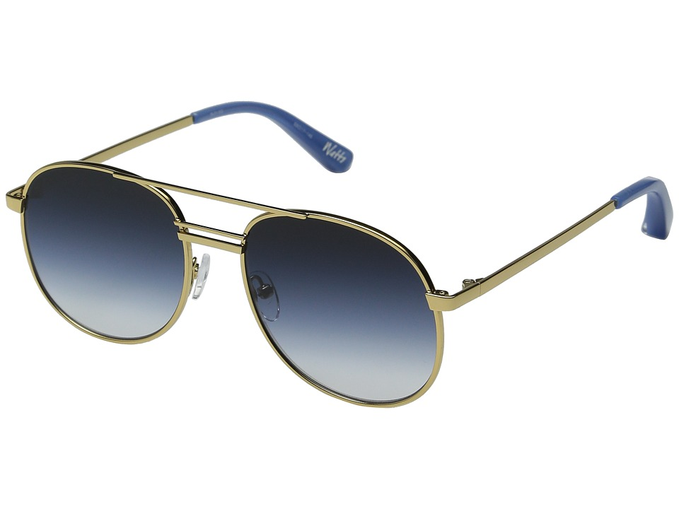 Elizabeth and James - Watts (Gold / Blue Gradient Lens) Fashion Sunglasses