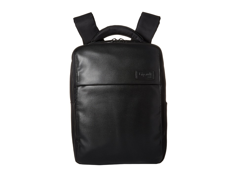 Lipault Paris - Premium Collection - 13 Computer Backpack (Black) Backpack Bags