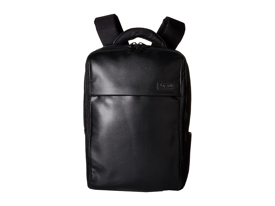 Lipault Paris - Premium Collection - 15 Computer Backpack (Black) Backpack Bags