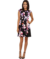 Maggy London - Smudge Blossom Printed Scuba Fit and Flare