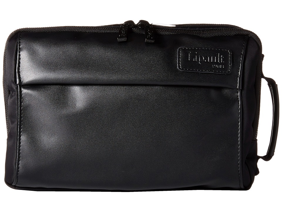 Lipault Paris - Premium Collection - 10 Dual Compartment Toiletry Kit (Black) Luggage