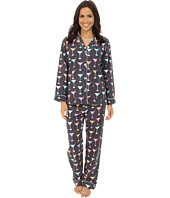 P.J. Salvage - Martini Flannel Sleep PJ Set
