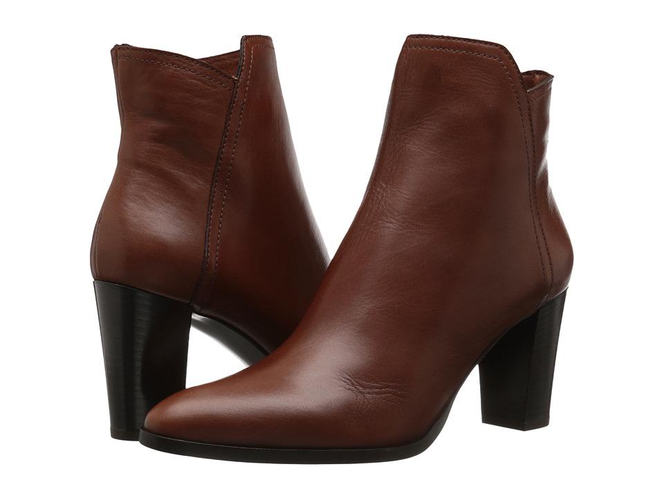 Massimo Matteo Side Zip Heel Bootie (Cuoio) Women
