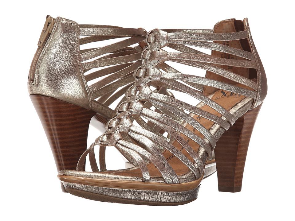 Sofft Rendon Satin Gold Grid Metallic High Heels
