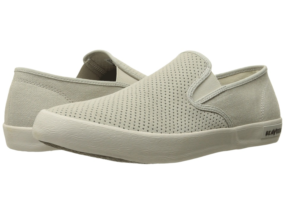 SeaVees 02/64 Baja Slip On Biltmore Pumice Perforated Suede/Hemp Mens Shoes