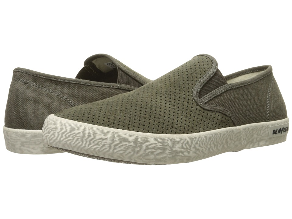 SeaVees 02/64 Baja Slip On Biltmore Cafe Noir Perforated Suede/Hemp Mens Shoes