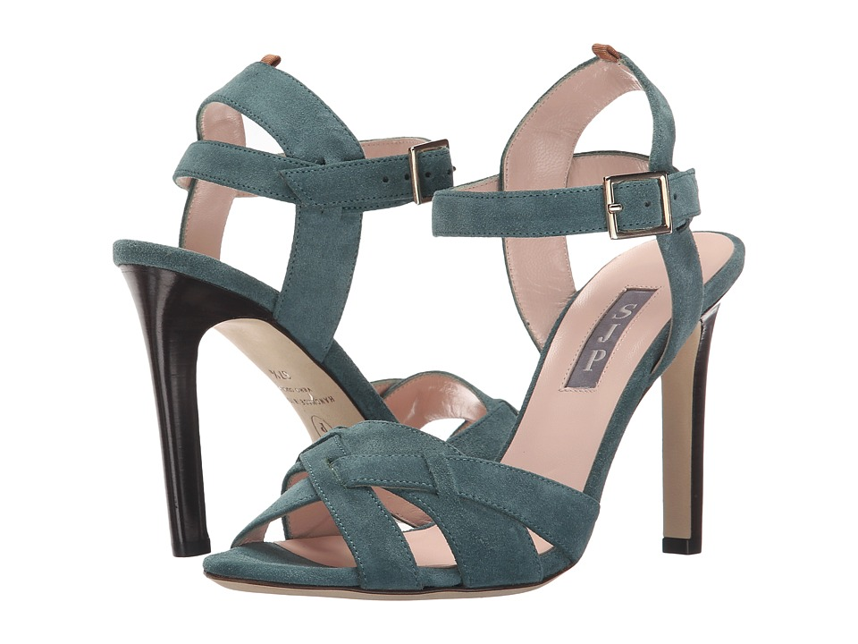 SJP by Sarah Jessica Parker Cameron Evergreen Suede Womens Sandals