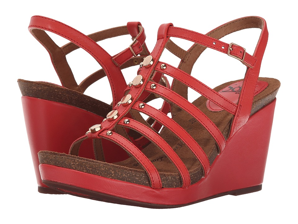 Sofft Cassie Coral Goat Light Pull Up Womens Wedge Shoes