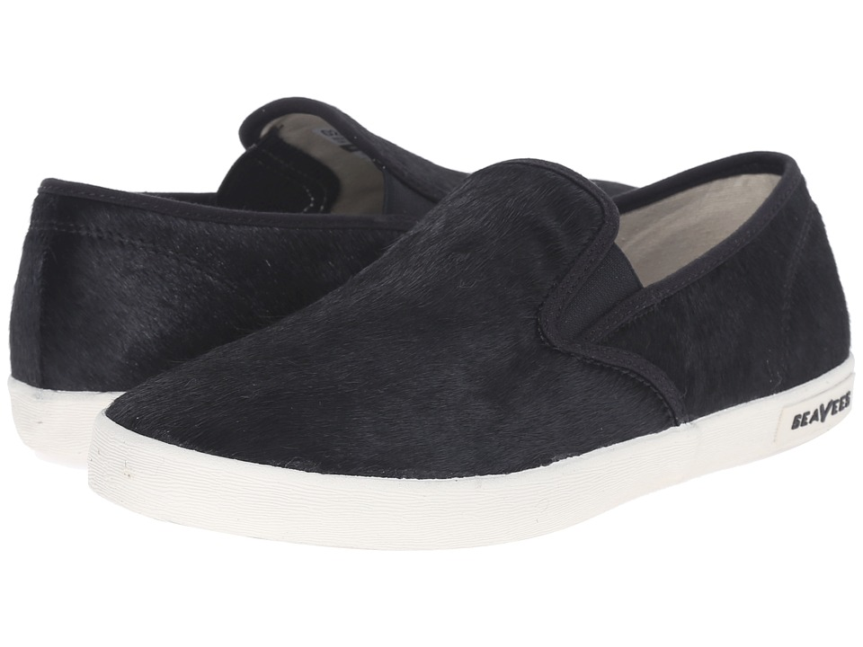 SeaVees 02/64 Baja Slip On Hope Ranch Black Womens Shoes