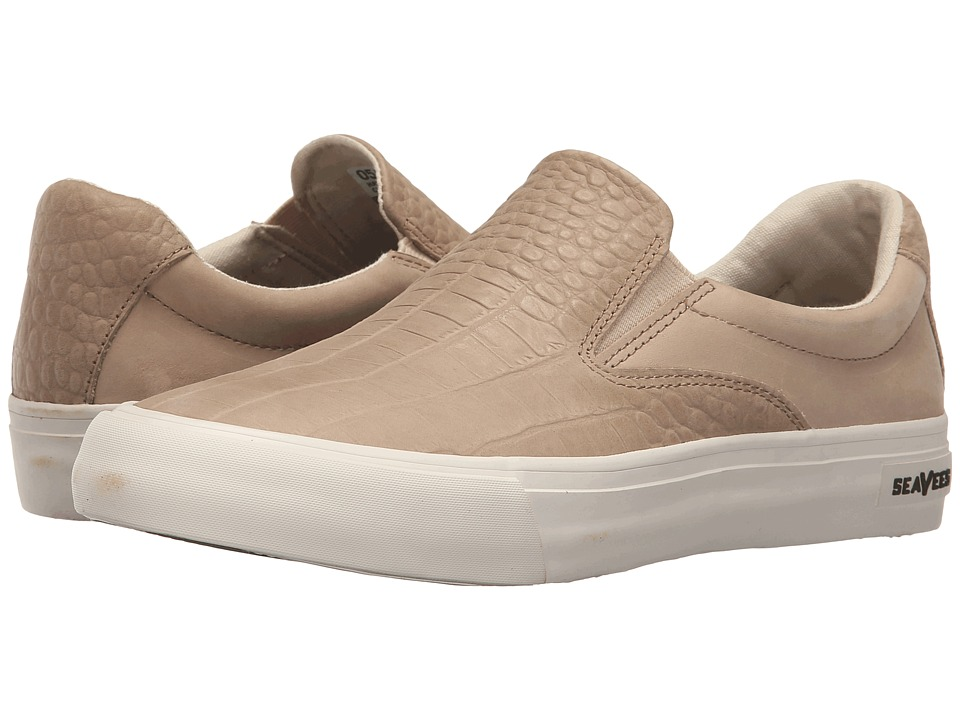 SeaVees 05/66 Hawthorne Slip On Clipper Class Cashew Croc Embossed Womens Shoes