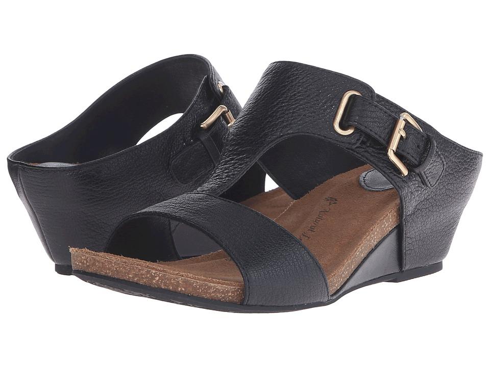 Sofft Valencia Black Muflone B Womens Wedge Shoes