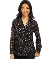 TWO by Vince Camuto - Floating Stars Y-Neck Swing Blouse