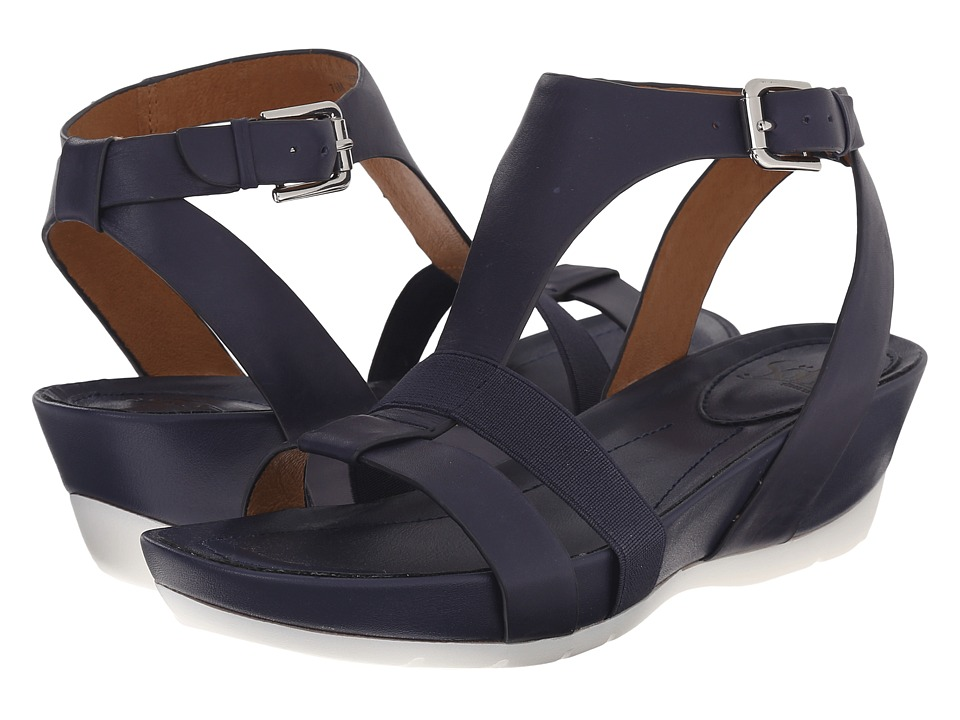 Sofft Contessa Peacoat Navy Lucky Calf Milled Womens Sandals