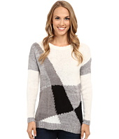 TWO by Vince Camuto - Long Sleeve Diagonal Color Blocked Pullover