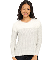 TWO by Vince Camuto - Long Sleeve Marled Eylelash Yoke Pullover