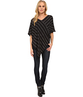 TWO by Vince Camuto - Neps Stripe Sweater-Like Knit Poncho