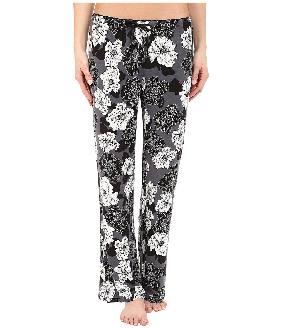 P.J. Salvage Black Night Pajama Pants Grey Womens Pajama